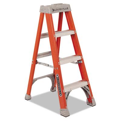 "Fiberglass heavy duty step ladder, 50"", 3-step, orange, sold as 1 each"