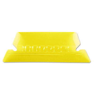 Hanging file folder tabs, 1/5 tab, two inch, yellow tab/white insert, 25/pack, sold as 1 package