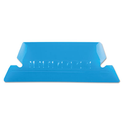 Hanging file folder tabs, 1/5 tab, two inch, blue tab/white insert, 25/pack, sold as 1 package