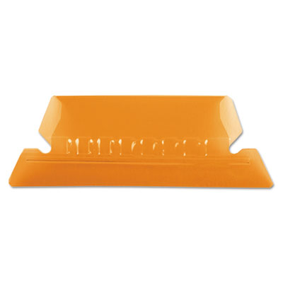 Hanging file folder tabs, 1/5 tab, two inch, orange tab/white insert, 25/pack, sold as 1 package