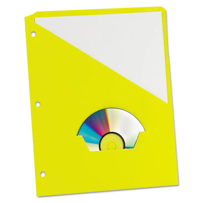 Essentials slash pocket project folders, 3 holes, letter, yellow, 25/pack, sold as 1 package