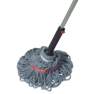 "Ratchet twist mop, self-wringing, blended yarn head, blue, 56"" handle, sold as 1 each"