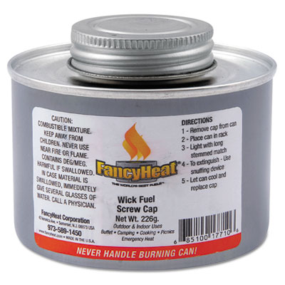 Chafing fuel can, twist cap wick, 4 hour burn, 8 oz, sold as 1 carton, 24 each per carton