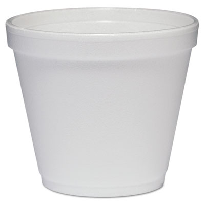 Food containers, foam, 8oz, white, 1000/carton, sold as 1 carton, 1000 each per carton