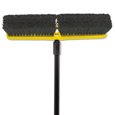 "Tampico-bristle medium floor sweep, 18""brush,3""bristles, black, sold as 1 each"