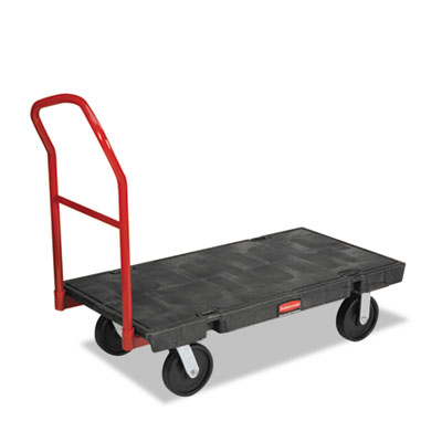 Platform truck, 2000-lb cap, 24w x 48d x 7h, black, sold as 1 each