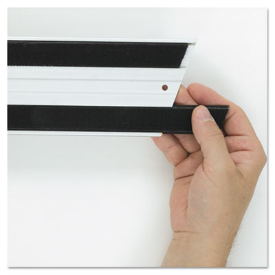 Hook & loop replacement strips, 1 1/10w x 18l, black, sold as 1 carton, 6 each per carton