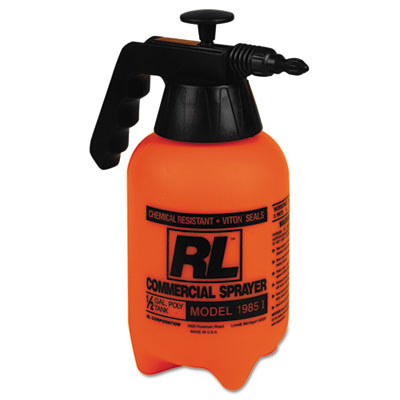Hand sprayer with adjustable nozzle, polyethylene, 64 oz, black/white, sold as 1 each