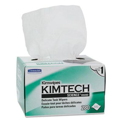 Kimwipes, tissue, 4 2/5 x 8 2/5, 280/box, 30 boxes/carton, sold as 1 carton, 30 each per carton