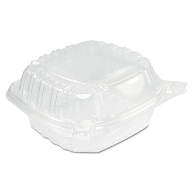 Clearseal hinged clear containers, 13 4/5 oz, clear, plastic, 5.4 x 5.3 x 2.6, sold as 1 carton, 500 each per carton