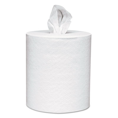 Center-pull towels, 8 x 15, white, 500 sheets/roll, 4 rolls/carton, sold as 1 carton, 4 roll per carton