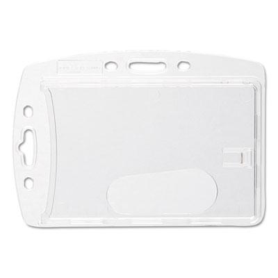 Badge holder, vertical/horizontal, polystyrene, 10/pack, sold as 1 package