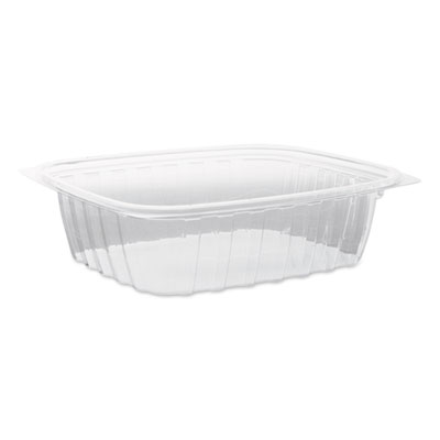 Clearpac plastic container with lid, 7-1/2 x 6-1/2 x 2, clear, 24 oz, 63/bag, sold as 1 carton, 252 each per carton