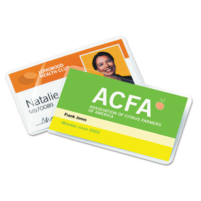 Laminating pouches, 7 mil, 2 3/16 x 3 11/16, business card size, 100, sold as 1 box, 100 each per box