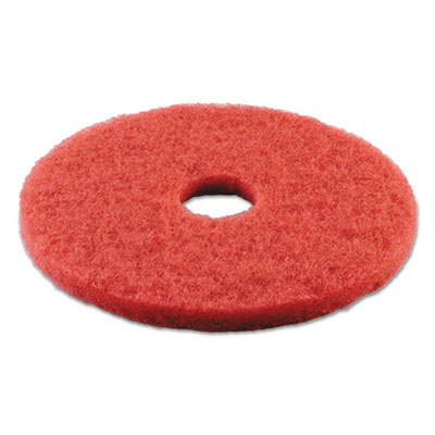 Standard 14-inch diameter buffing floor pads, red, sold as 1 carton, 5 each per carton