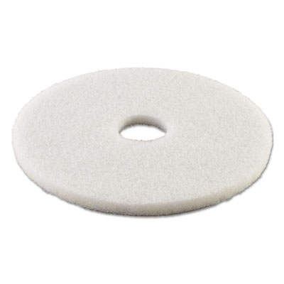Standard 13-inch diameter polishing floor pads, white, sold as 1 carton, 5 each per carton