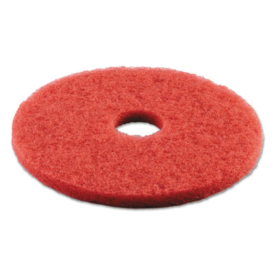 Standard 16-inch diameter buffing floor pads, red, sold as 1 carton, 5 each per carton