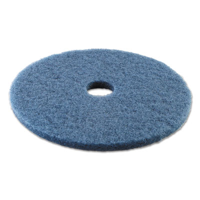 Standard 20-inch diameter scrubbing floor pads, blue, sold as 1 carton, 5 each per carton