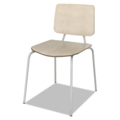 Trento line sienna stacking wood chair, oatmeal, stacks 6 high, 2/carton, sold as 1 carton, 2 each per carton