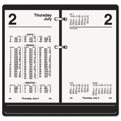 Financial desk calendar refill, 3 1/2 x 6, white, 2016, sold as 1 each