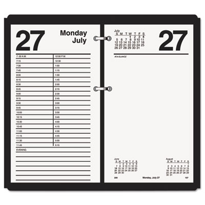 Large desk calendar refill, 4 1/2 x 8, white, 2016, sold as 1 each