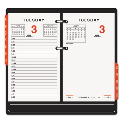 Two-color desk calendar refill, 3 1/2 x 6, 2016, sold as 1 each