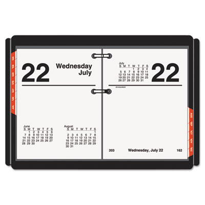 Compact desk calendar refill, 3 x 3 3/4, white, 2016, sold as 1 each