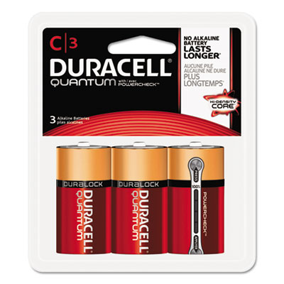Quantum alkaline batteries w/ duralock power preserve technology, c, 1.5v, 3/pk, sold as 1 carton, 36 each per carton