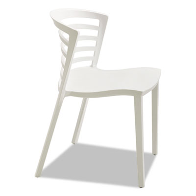 Entourage stack chair, white, 4 per carton, sold as 1 carton, 4 each per carton
