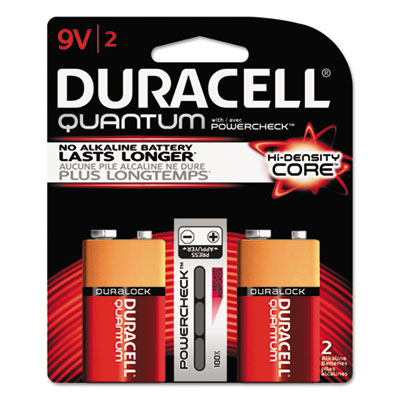 Quantum alkaline batteries with duralock power preserve tech, 9v, 2/pk, 36pk/ct, sold as 1 carton, 36 package per carton