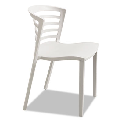 Entourage stack chair, gray, 4 per carton, sold as 1 carton, 4 each per carton