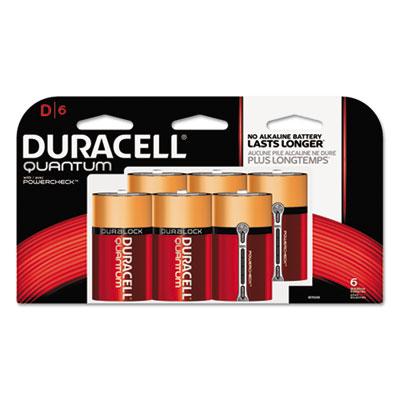 Quantum alkaline batteries w/duralock power preserve technology, d, 1.5v, 6/pk, sold as 1 carton, 36 each per carton