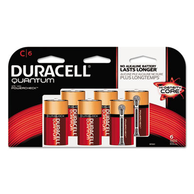 Quantum alkaline batteries w/duralock power preserve technology, c, 1.5v, 6/pk, sold as 1 carton, 36 each per carton