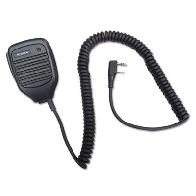 External speaker microphone for tk series two-way radios, black, sold as 1 each