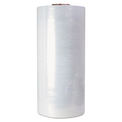 "High-performance handwrap film, 18"" x 1500ft roll, 8mic (32-gauge), clear, 4/ct, sold as 1 carton, 4 roll per carton"