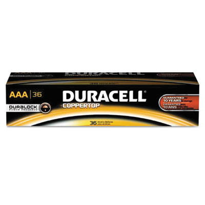 Coppertop alkaline batteries with duralock power preserve technology, aaa, 36/pk, sold as 1 package