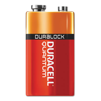 Quantum alkaline batteries with duralock power preserve technology, 9v, 12/pk, sold as 1 box, 12 each per box