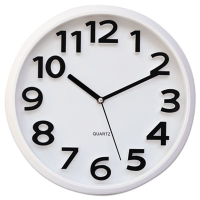 Round wall clock, white, 13, sold as 1 each