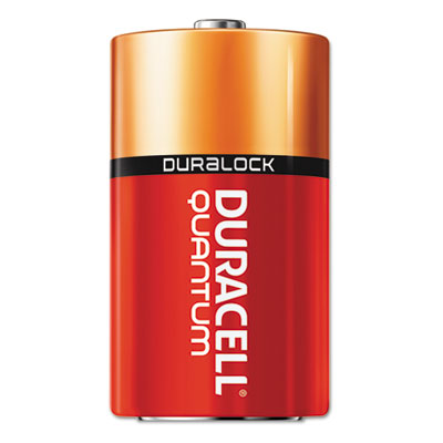Quantum alkaline batteries with duralock power preserve technology, d, 12/pk, sold as 1 box, 12 each per box