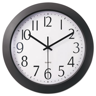 "Whisper quiet clock, 12"", black, sold as 1 each"