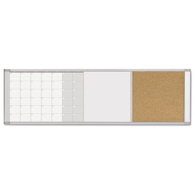 Magnetic calendar combo board, 48 x 18, aluminum frame, sold as 1 each