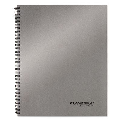 Side-bound guided business notebook, 9 1/4 x 11, metallic silver, 80 sheets, sold as 1 each