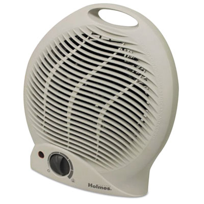 Compact electric fan-forced heater, off-white, 1500w, 9 1/8 x 5 5/8 x 10 5/8, sold as 1 each