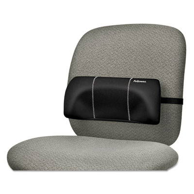 "Lumbar back support, 12""w x 3.125""d x 5.187""h, black, sold as 1 each"