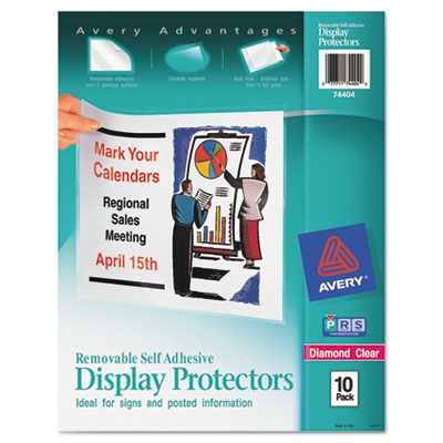 Top-load display sheet protectors, letter, 10/pack, sold as 1 package