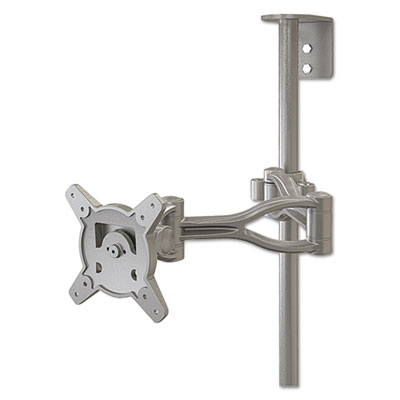 Optional second monitor mount, 19 1/2w x 19 1/2d x 4 3/4h, gray, sold as 1 each