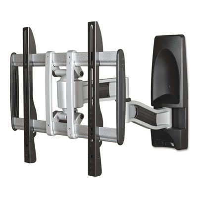 Hg articulating flat panel wall mounts, 19w x 22d x 17 3/4h, silver/black, sold as 1 each