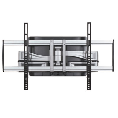 Hg articulating flat panel wall mounts, 34 1/4w x 21d x 20h, silver/black, sold as 1 each