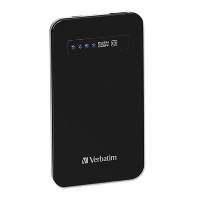 Ultra slim power pack chargers, 4200 mah battery capacity, black, sold as 1 each