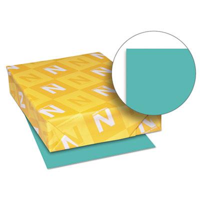Exact brights paper, 8 1/2 x 11, bright aqua, 50 lb, 500 sheets/ream, sold as 1 ream